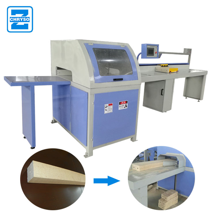 square wood board cross cutter saw machine | CNC optimizing cut off saw machine