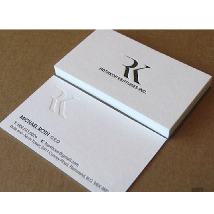 Luxury Custom 3d Business Card Printingraised Debossed Embossed