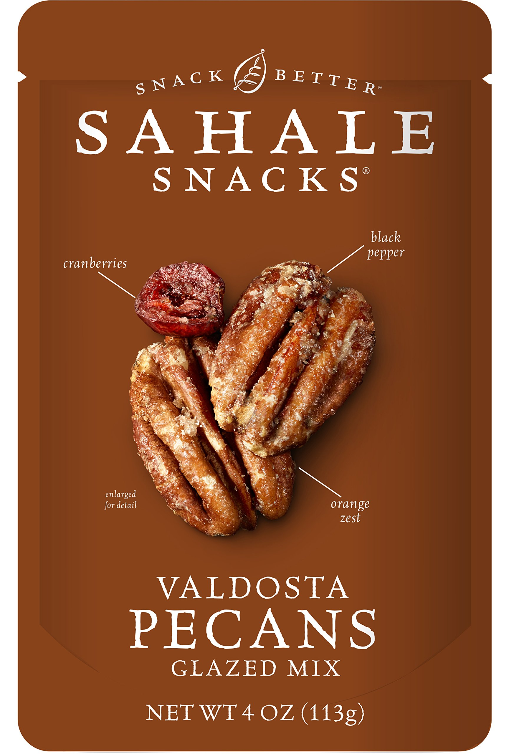 Sahale Snacks Valdosta Pecans Glazed Mix, 4 Ounce (Pack of 6)