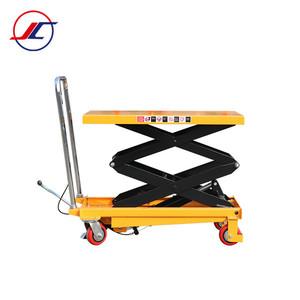 Diy trolley hydraulic antique scissor lift table for plywood