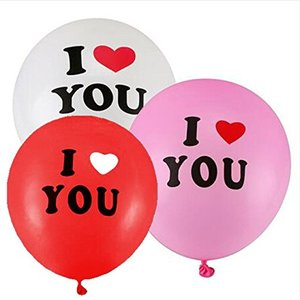 Partigos Romantic 12 inch White or red LOVE YOU Pearl Latex Helium Balloons Valentine's Day Christmas Wedding Decorations