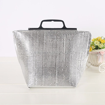 Whole Disposable Alum Foil Cooler Bag For Frozen Food Outdoor Handbag
