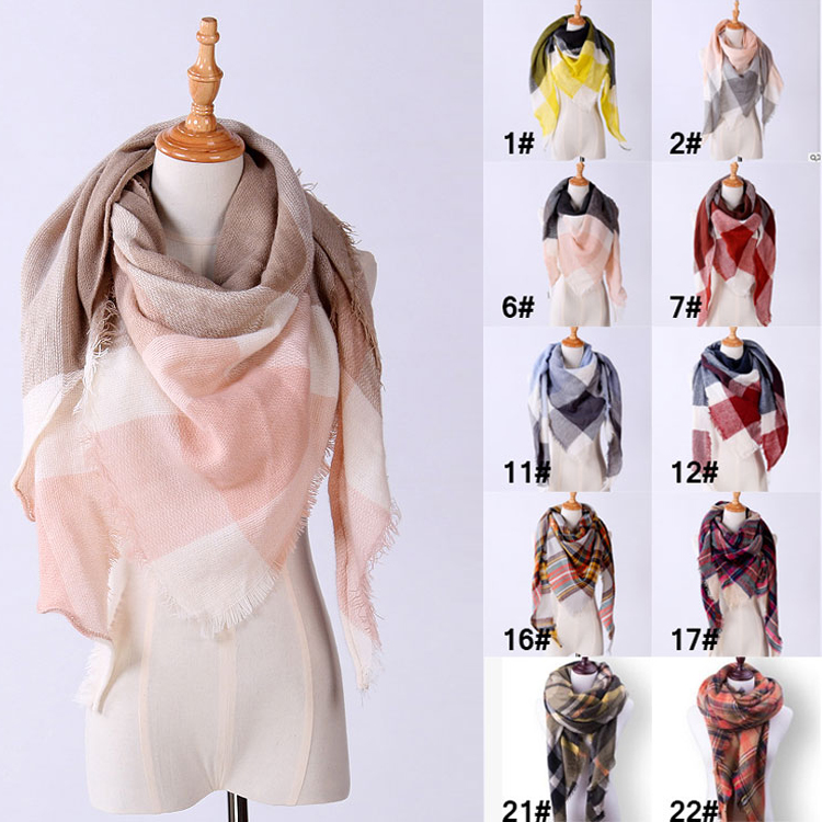 Fashion Winter <strong>Scarf</strong> Women Luxury Brand <strong>Scarves</strong> Ladies Wraps Warm Shawls <strong>Scarf</strong> For Women Triangle Drop Shipping Z0095