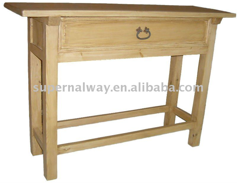 100% Pine Home Furnitue table console with drawers
