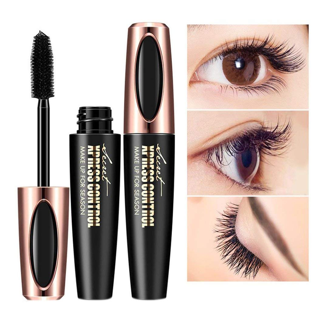405986dfd33 Get Quotations · Inkach - Mascara Cream Kit, Eyelash Mascara with Fiber  Cold Waterproof Makeup Mascara Eye-