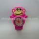 Casual and Fashionable Style Cartoon Monkey Silicone Slap Watch