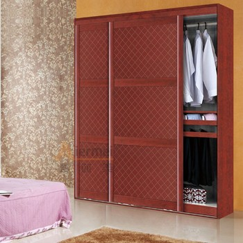 Custom Made Closet System Leather Finish Sliding Wardrobe Doors