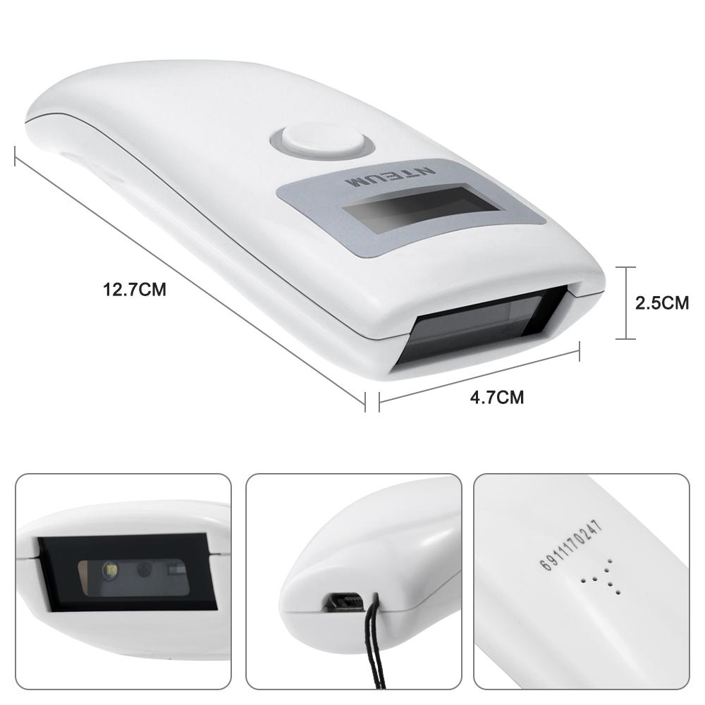 บลูทูธไร้สายมินิแบบพกพา 2d barcode scanner ถอดรหัส pdf417 qr และ datamatrix