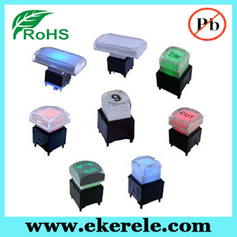 15 * 15 mm Control System Square Illuminated Switches Button