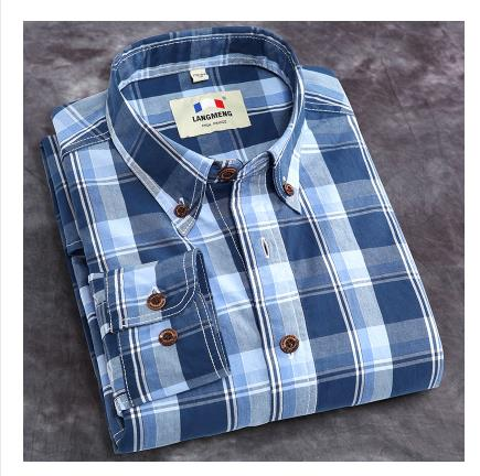 Wholesale flannel fabric new fashion mens stylish cotton check shirts for men