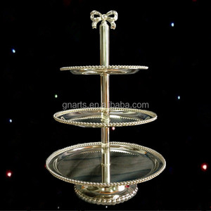Party decoration event & party item type metal centerpieces for weddings,3 tier cake stand