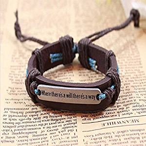 Sumanee Fashion Handmade Men Cuff Surfer Tribal Hemp braided Wrap Wrist Leather Bracelet