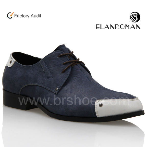 dress leather sole men rubber genuine nubuck shoes pointed Fashion toe wBpZUv