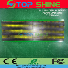 P10 * P8 LED display <span class=keywords><strong>board</strong></span> voor Bus LED screen amber kleur hot product bus led display