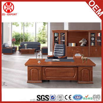 Luxury Office Supplies Wooden Boss Table Designs