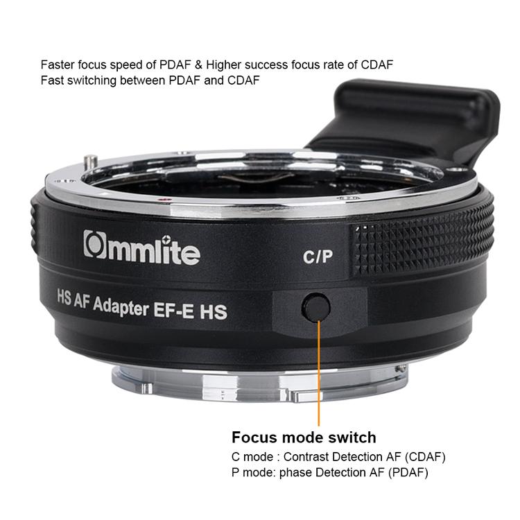 Commlite EF-E HS Hoge Snelheid Lens Mount Adapter Ring AF voor Canon EF/EF-S Lens Sony A9 A7RIII a7RII A6000