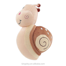 Super Soft Snail Shape Animal Plush Custom Dog Chew Toys For Promotion