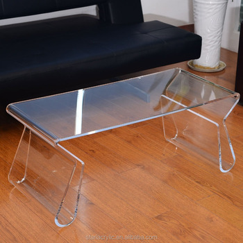 38 Modern Acrylic Clear Coffee Table With Magazine Holder
