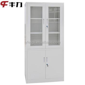 Lockable Gl Door Photography Equipment Storage Cabinet