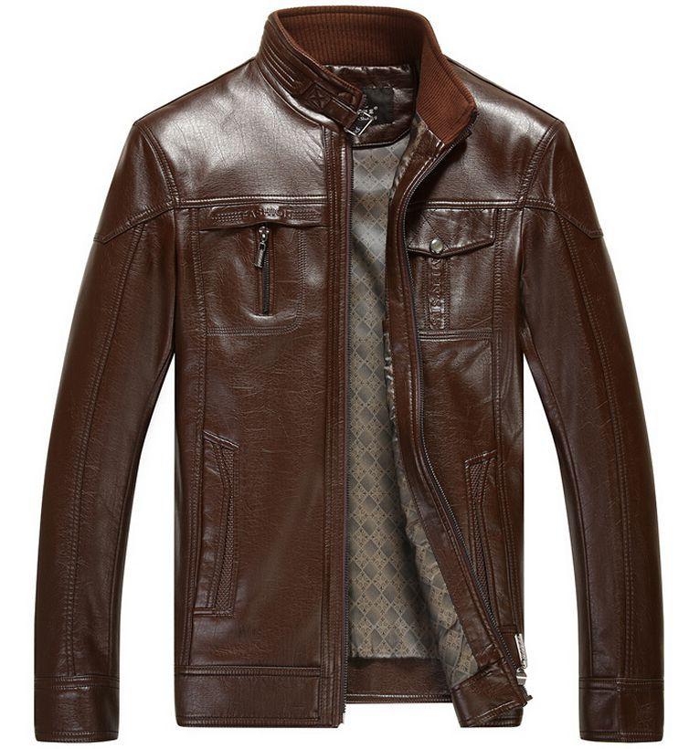 Plus size short leather jackets