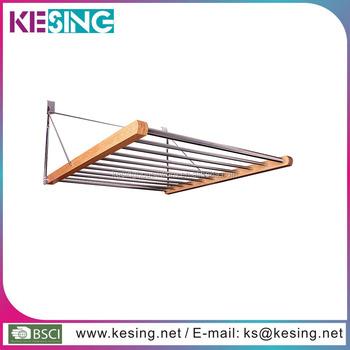 Over The Door Hanger Fold Away Bamboo Drying Rack