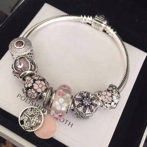 factory wholesale silver jewelry 925 sterling charms women bracelets bangles
