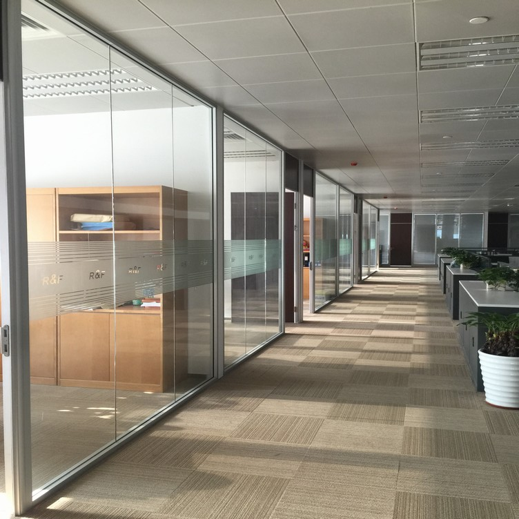 Functional double glass cubicle walls Double glass office partition & high office partition & partition wall