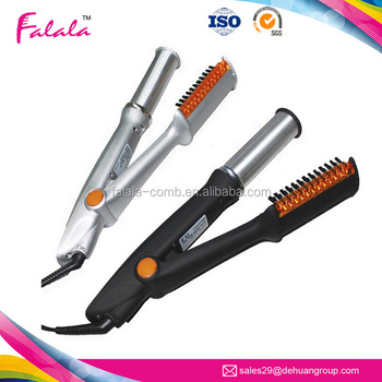 Ceramic Curlers Afro Hot Pick Electric Straight Hair Comb Brush