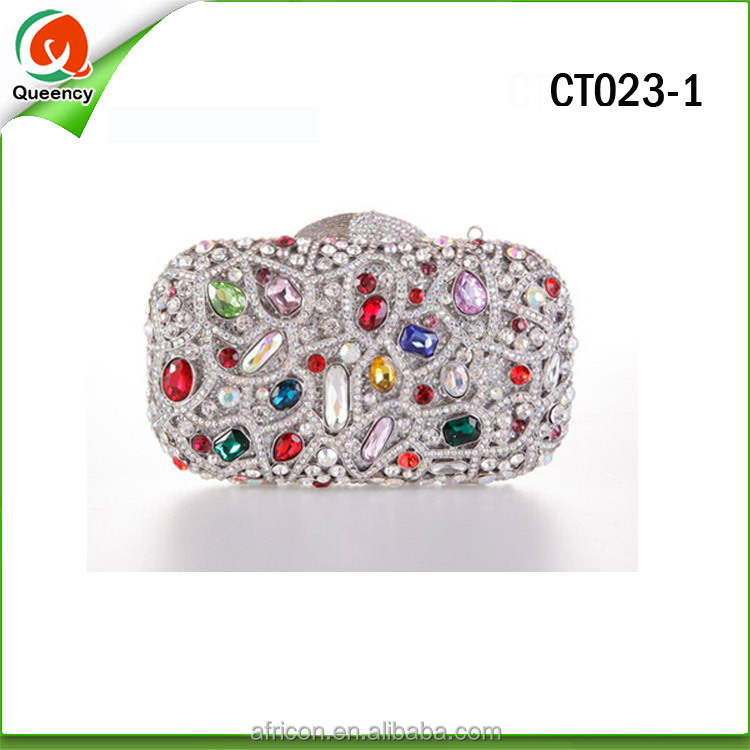 2016 exquisite diamond designs ladies evening clutch bags CT023-1