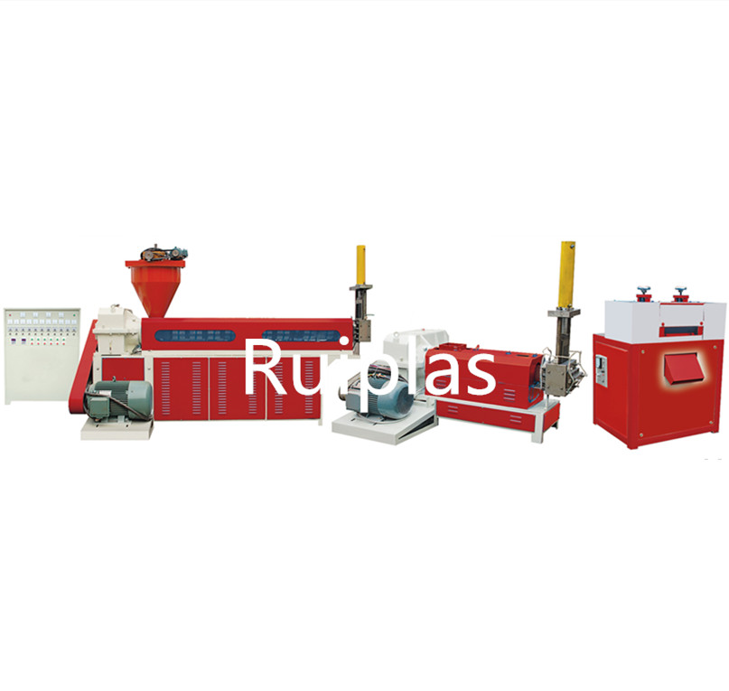 Sj-c pe pp afval plastic folie recycling machine waterkoeling