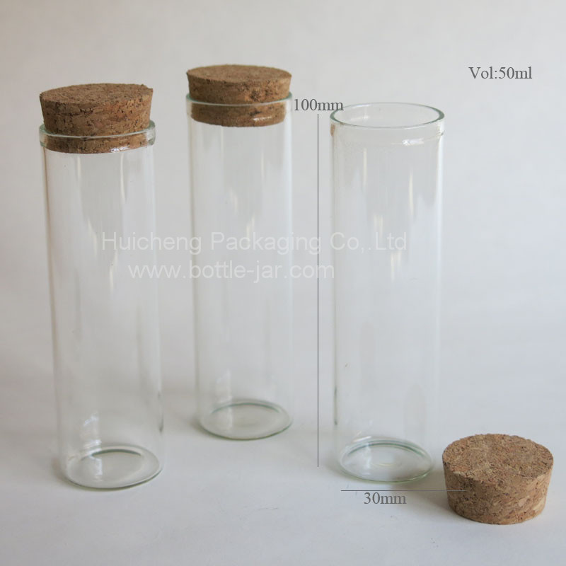 Large Glass Storage Bottles With Cork Top50ml Glass Tube With Cork