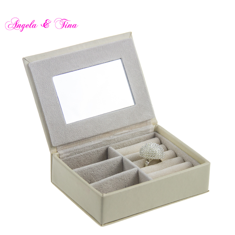 Multipurpose PU Leather Elegant Luxurious Jewelry box with Gold Lock
