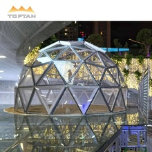 Winkelcentra, outdoor resorts, hotels, restaurants en cafes 6 m glas dome <span class=keywords><strong>tent</strong></span>