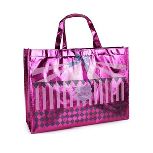Free Sample Promotional Cheap Heavy Duty Recycled Shopping Non Woven Tote Bags With Custom Printed Logo
