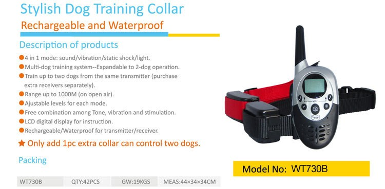 Pet Training Electronic Dog Shock Collar The Best Price Waterproof Remote Control Anti-Bark Dog Training Bark Shock Stop Collar