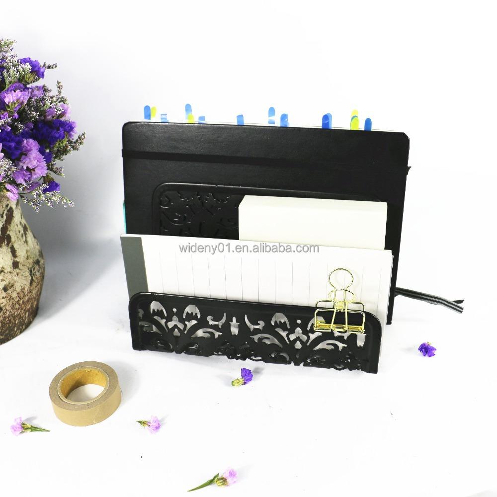 Пользовательские логотип посылка Вышивка крестом пакет доступны сетки провода гладить сталь металла стол desktop Файл Организатор Письмо держатель
