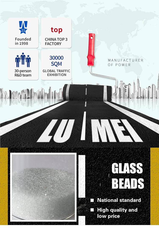 थोक ग्लास मनकों कारखाना पर अंधेरे में चमक मोती ड्रॉप ग्लास मोती के लिए सड़क अंकन थर्माप्लास्टिक कोटिंग
