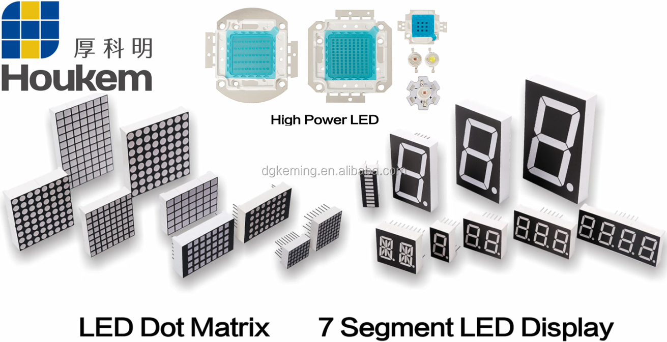 full color customized 7 segment led display