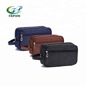 nylon two compartment toiletry bag cosmetic bag makeup bag