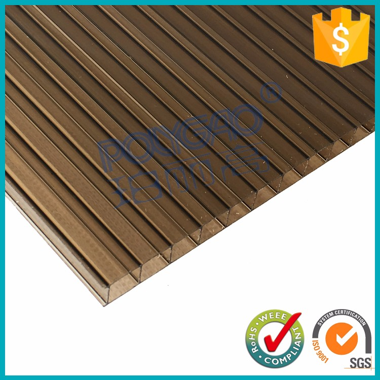 Quality assured 8mm agricultural building polycarbonate holow sheet