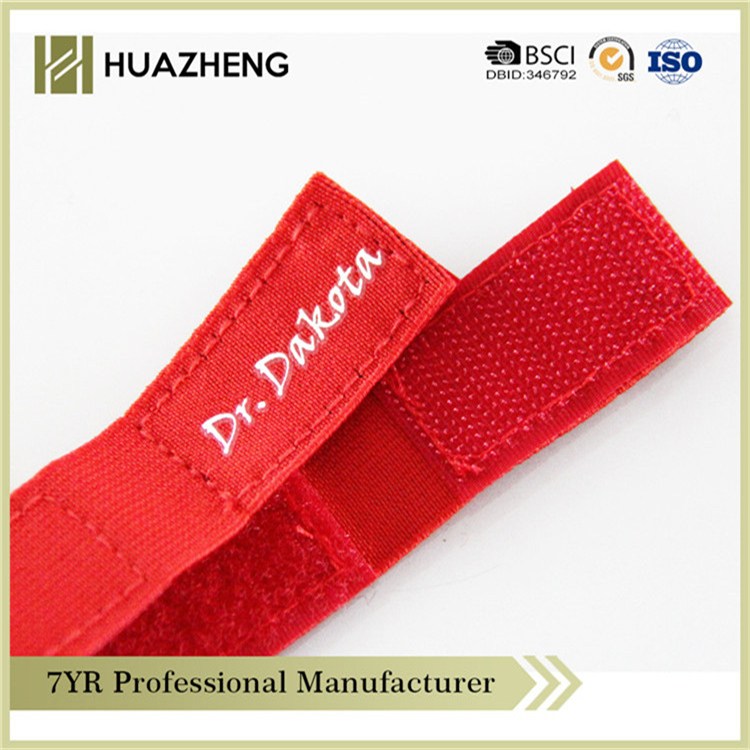 New Design red customized durable hook and loop strap double face thin size