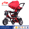 New cool toy kids tricycle sale on alibaba/CE metal tricycle with Canopy/Poland best selling red tricycle for sale