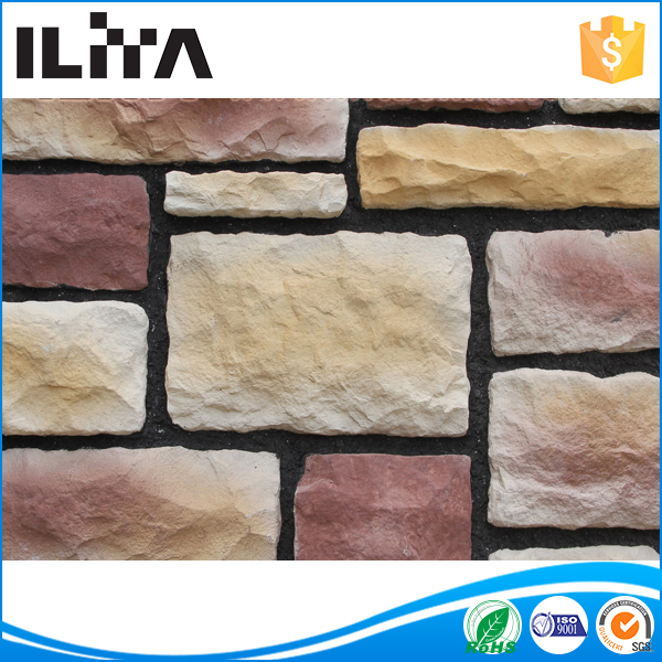artificial cultured stone outdoor wall covering ,fireplace surrounds