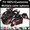INJECTION MOLDING Fairing red flames ABS cowling ZX-14R 2006 2007 2008 2009 2010 2011 ZZR1400 motorcycle Ninja Fairing for Kawas