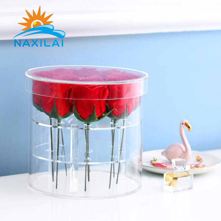 Acrylic Rose Flower Display Box