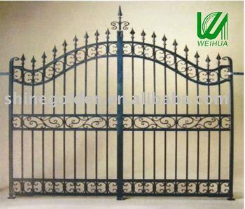 Euro Design Wrought Iron Main Fence Gate Design Buy Modern Gates