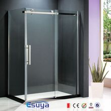 Corner rectangle tempered glass sliding shower door/shower cabin 100 x 70