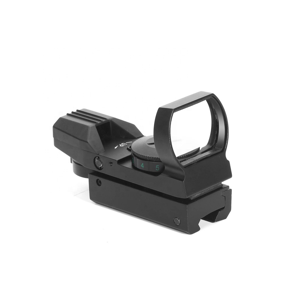LUGER HD101 Red Dot Sight Holographic Hunting Riflescope Reflex 4 Reticle Tactical Optics Scope, Matte black