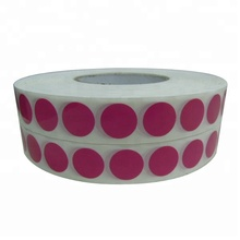 High Quality Custom Removable Paper Adhesive Colorful Dot Sticker Printing Small Round Sticker Roll