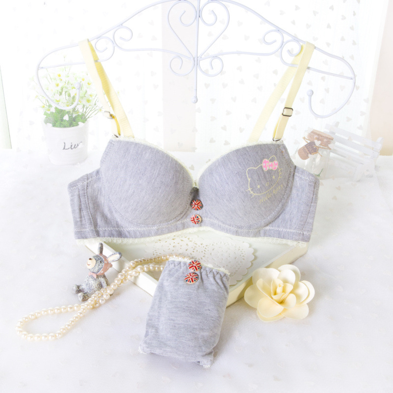 Sexy Double Push Up Bra Brief Sets Girls Bras And Underwear Sets Women Underwear Bra Strapless Super Lace Push Up Bra Sexy